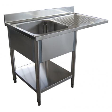 plonge pour lave vaisselle 1 bac etagere hupfer. Black Bedroom Furniture Sets. Home Design Ideas