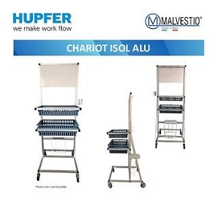 Le chariot d'isolement en aluminium anodisé devient indispensable !
